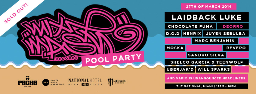 download → Carnage & Sandro SIlva, Blasterjaxx, Laidback Luke & Dimitri Vegas and Like Mike & Steve Aoki & Sander Van Doorn, Chocolate Puma, Deorro, etc - Mixmash Pool Party, WMC 2014, National Hotel, Miami Music Week - 27-Mar-2014