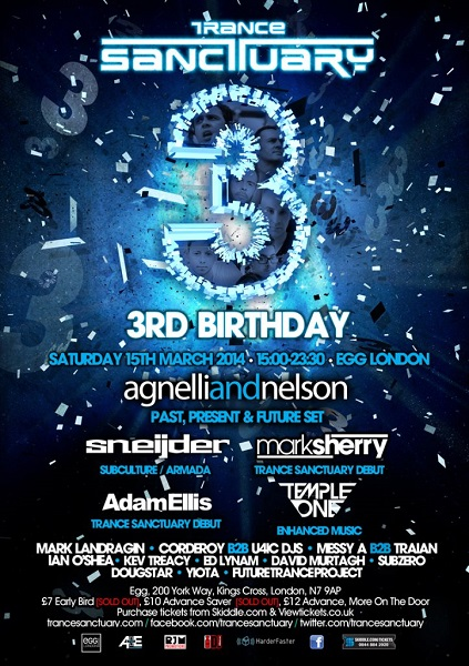 download → Adam Ellis, Sneijder, Temple One, Mark Landradin, Ian O'Shea, Agnelli & Nelson,  - Live At Trance Sanctuarys 3rd Birthday, Egg (London) - 15-Mar-2014