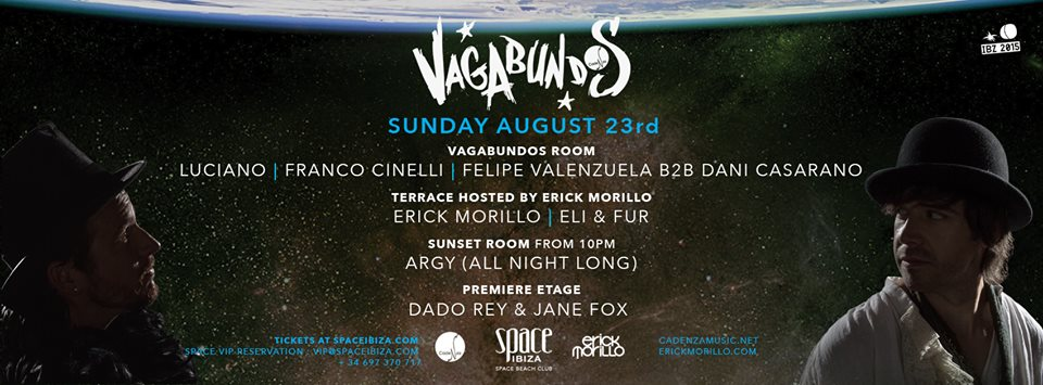 download → Felipe Valenzuela B2B Dani Casarano - live at Vagabundos (week 12), Space, Ibiza - 23-Aug-2015
