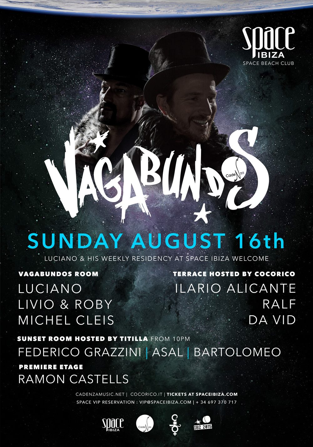 download → Luciano - Vagabundos (week 11), Space, Ibiza - 720p HD - 16-Aug-2015