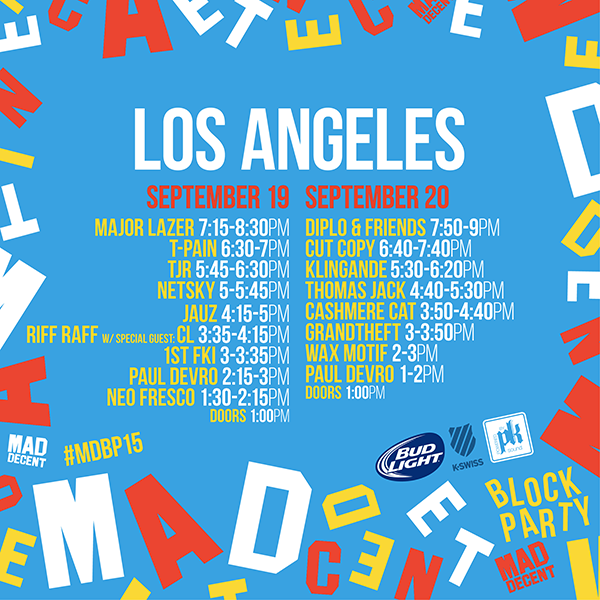 download → Diplo, Klingande, Grandtheft, Thomas Jack, Wax Motif - Mad Decent Block Party 2015, Los Angeles (Day 2) - 720p HD - 20-Sep-2015