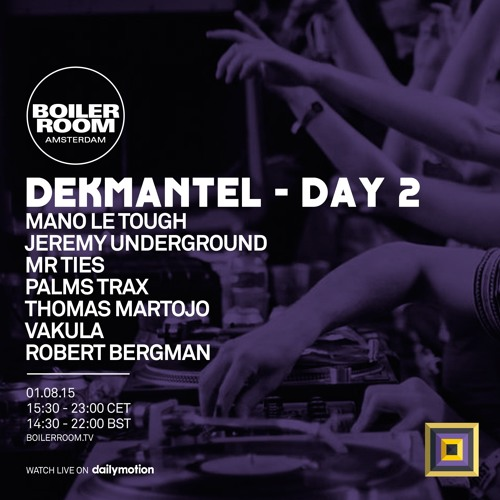 download → Mano Le Tough - live at Boiler Room x Dekmantel Festival, Amsterdam - 01-Aug-2015