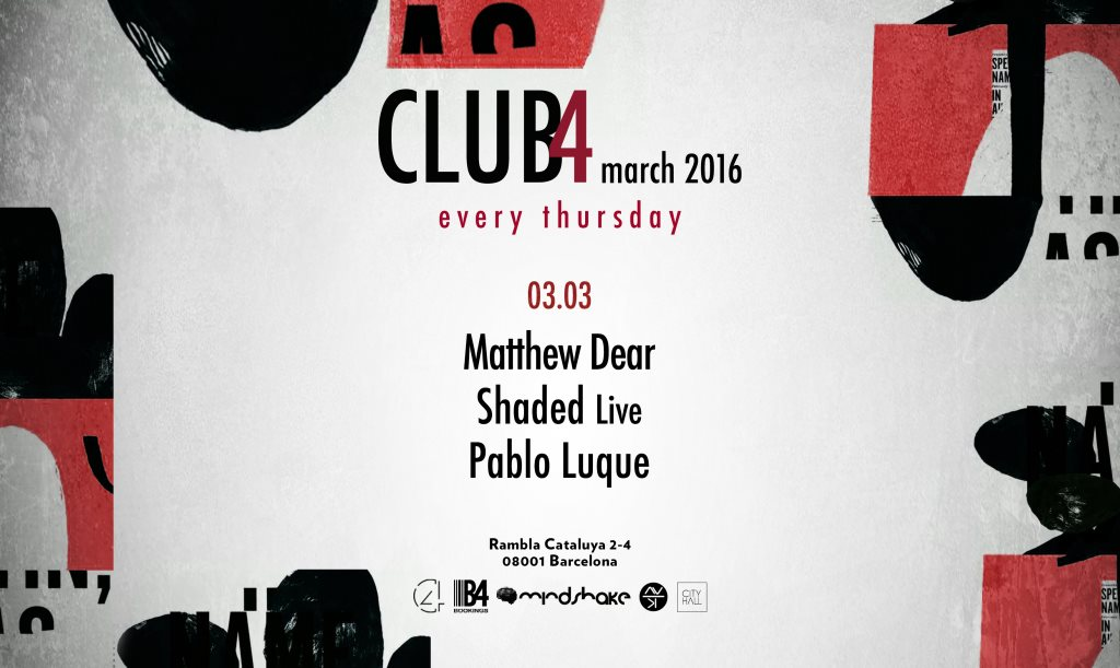 download → Matthew Dear - live at Club4 (Barcelona) - 03-Mar-2016