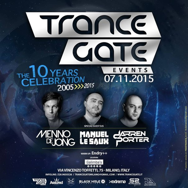 download → Menno de Jong - Live at Trance Gate 10th Birthday (Milano) - 07-Nov-2015