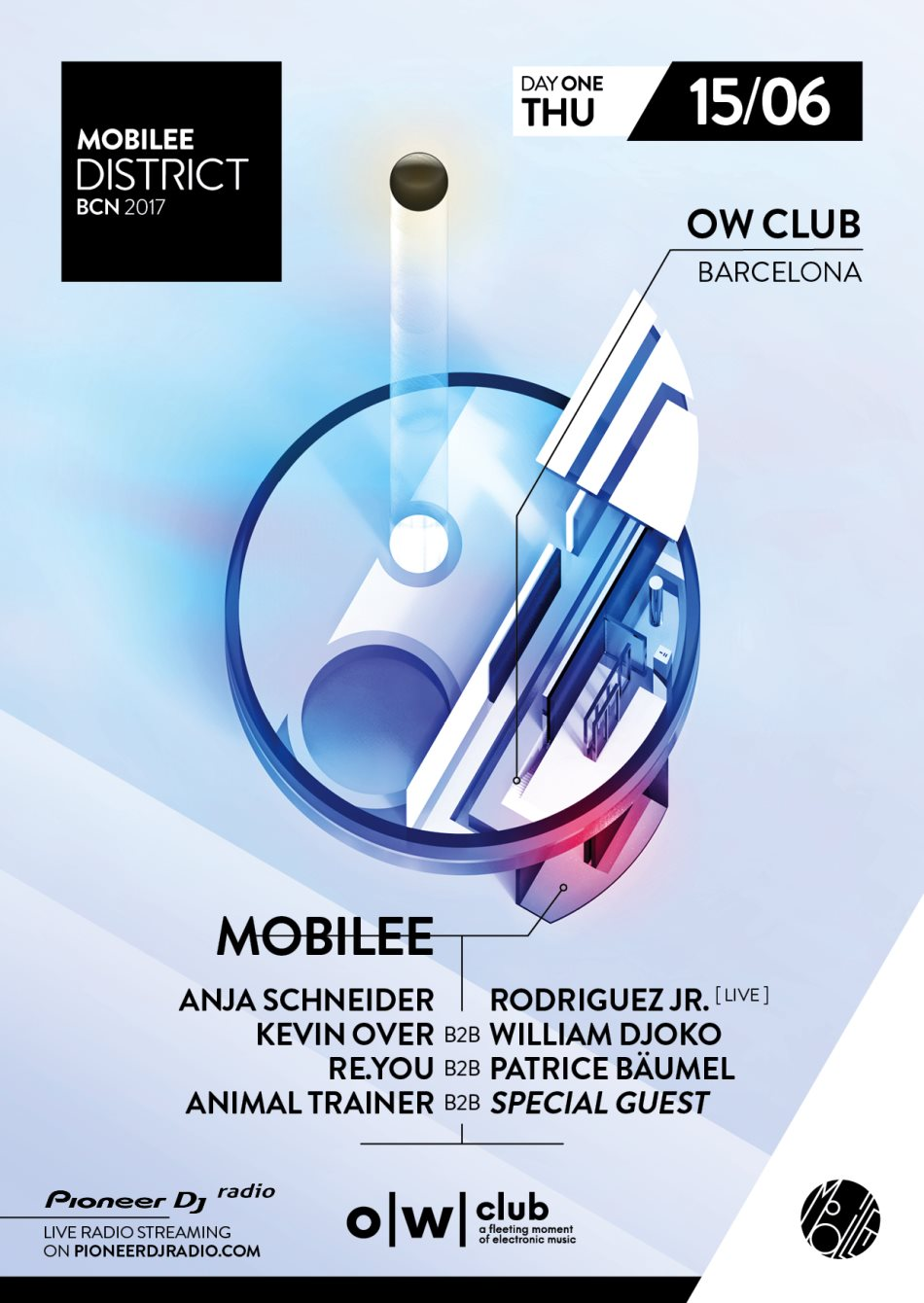 download → William Djoko B2B Kevin Over - live at Mobilee Showcase (OW Club, Barcelona, Sonar 2017) - 15-Jun-2017