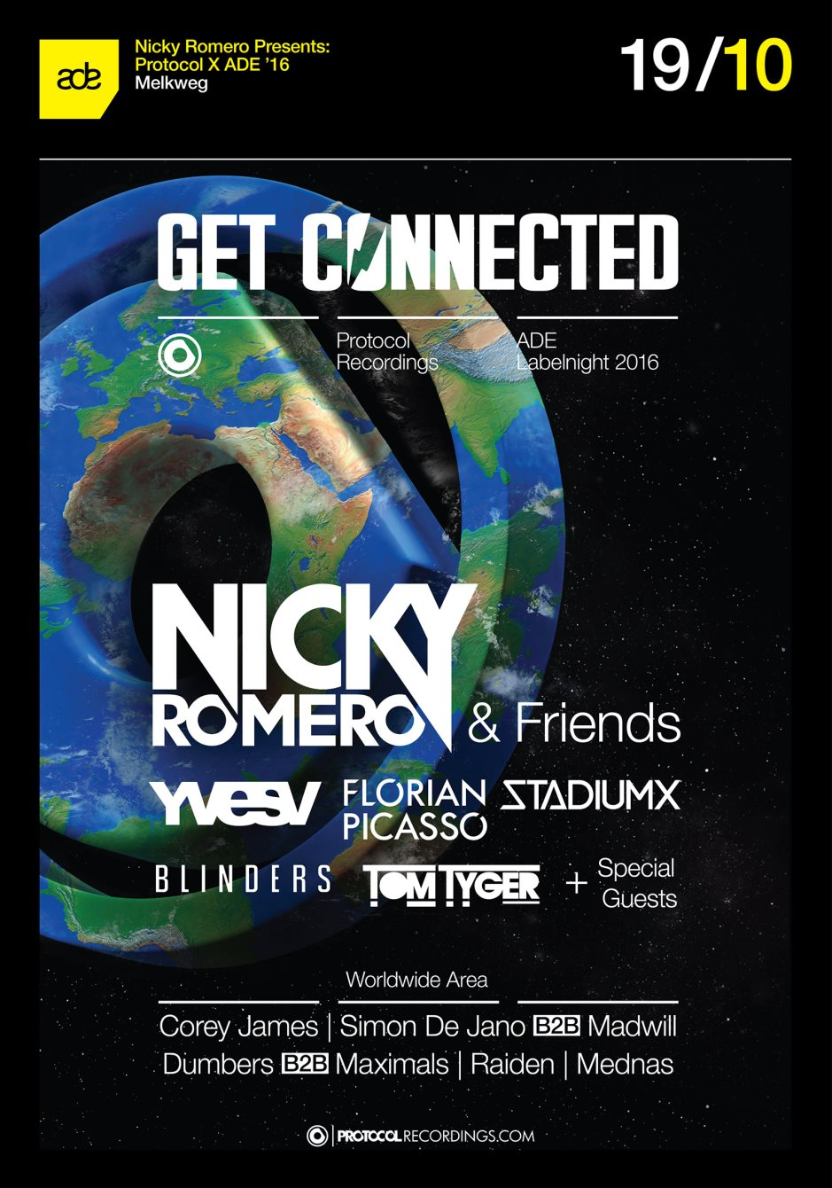 download → Nicky Romero & Friends - live at Get Connected (Protocol  Records Showcase, Melkweg, Amsterdam) - 19-Oct-2016