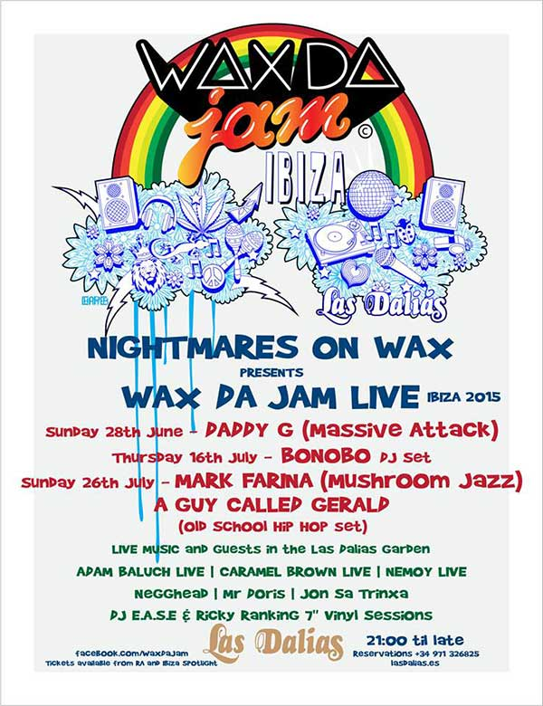 download → Nightmares on Wax - live at Wax Da Jam Live, Las Dalias, Ibiza - 26-Jul-2015