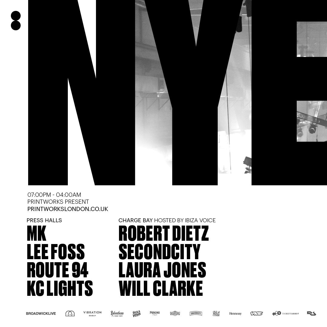 download → MK, Route 94, Lee Foss, Will Clarke, KC Lights - live at Printworks New Years Eve Party (London) - 31-Dec-2017