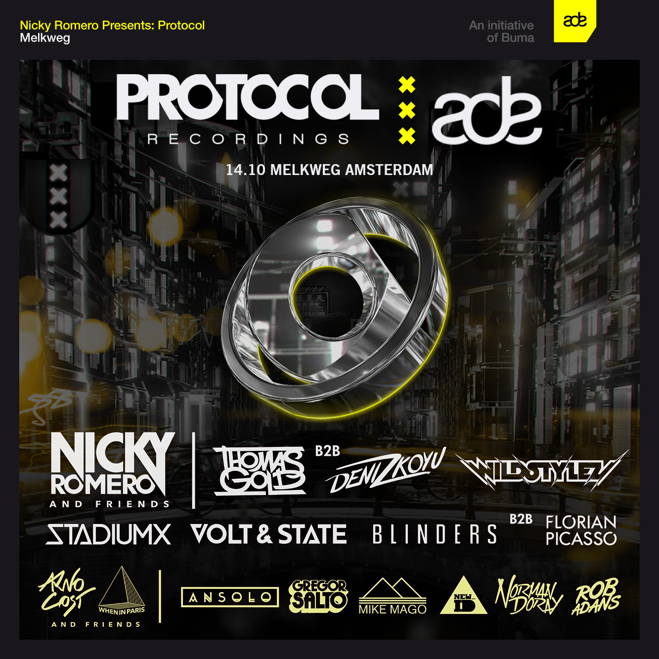 download → Blinders b2b Florian Picasso - live at Protocol Recordings, Amsterdam Dance Event 2015 (Club Melkweg) - 14-Oct-2015