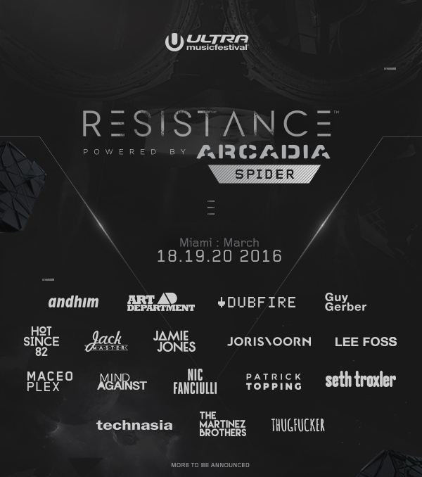 download → livesets from Ultra Music Festival 2016, RESISTANCE stage (Miami)