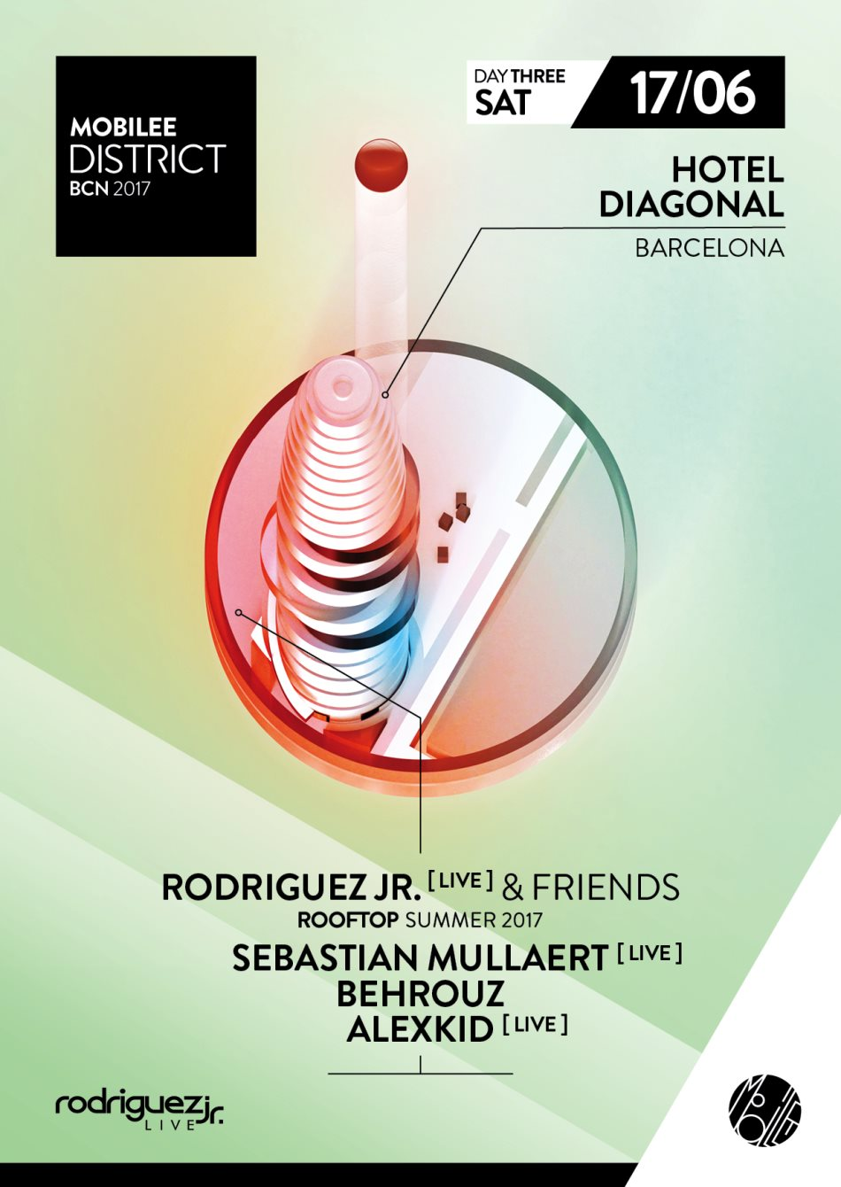 download → Rodriguez Jr., Behrouz, Alexkid - live at Rodriguez Jr. & Friends Rooftop (Hotel Diagonal, Barcelona, Sonar 2017) - 17-Jun-2017