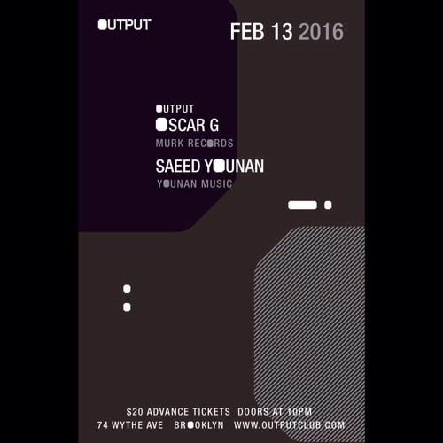 download → Saeed Younan - live at OUTPUT New York (part 1) - 13-Feb-2016