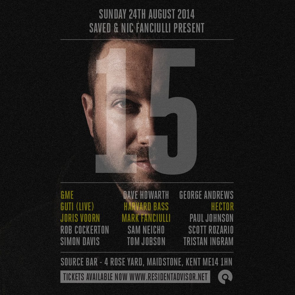 download → Nic Fanciulli VS Hector, Harvard Bass, &Me, Guti, Mark Fanciulli, Joris Voorn - Saved & Nic Fanciulli Present - 15, The Source Bar, UK - 24 aug 2014 (720p HD Video) - 24-Aug-2014