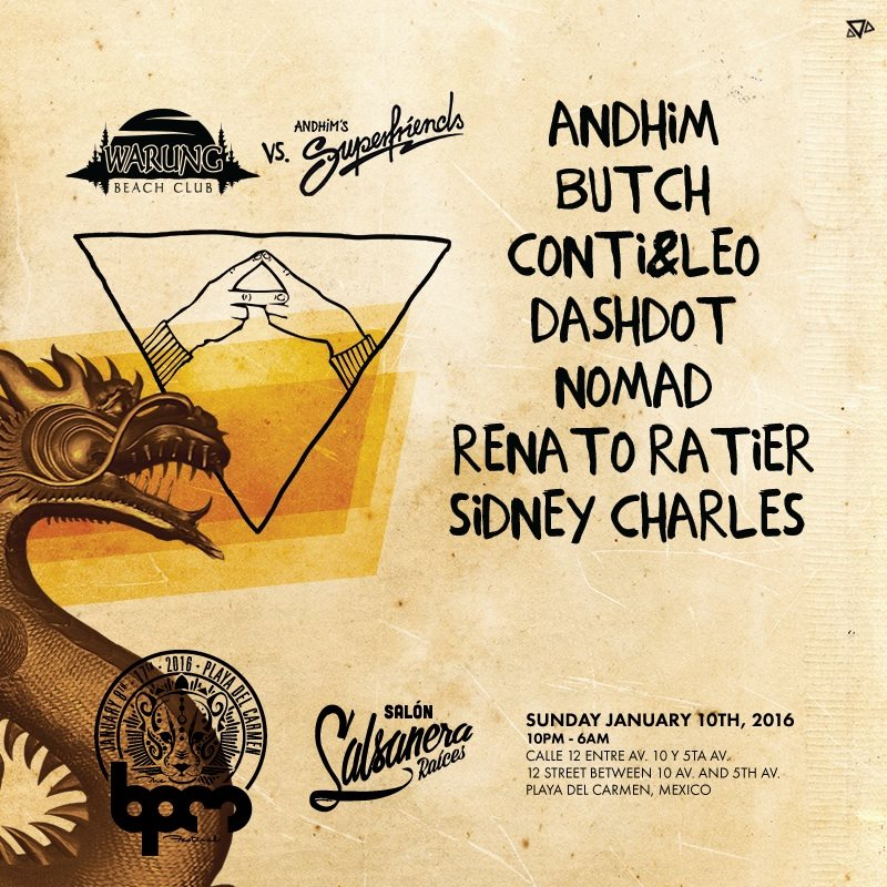 download → Sidney Charles - live at Warung vs Superfriends, Salsanera (The BPM 2016, Mexico) - 10-Jan-2016