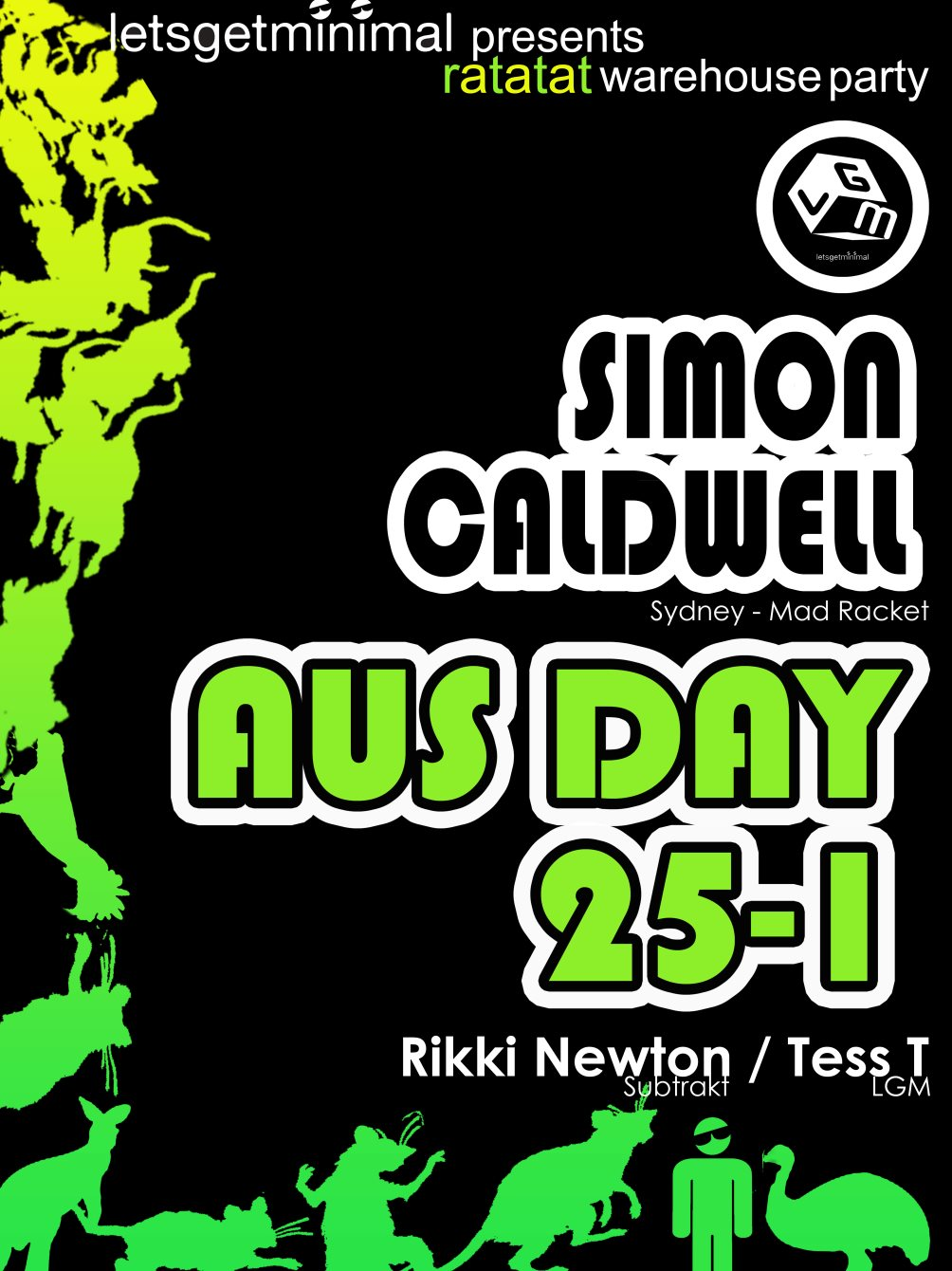 download → Simon Caldwell - live at Ratatat Warehouse Party (Brisbane) - 25-Feb-2015