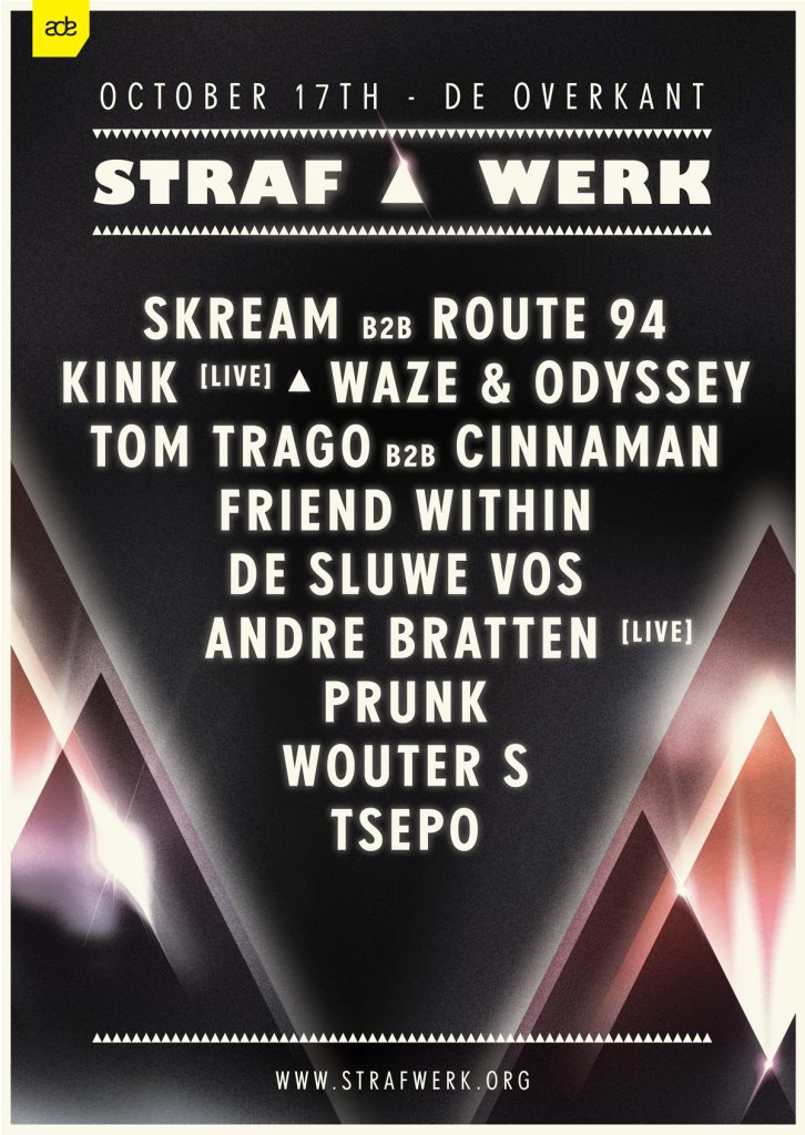 download → Skream b2b Route 94 - live at Straf Werk, ADE 2015, Amsterdam Overkant - 17-Oct-2015