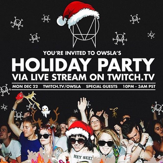 download → Skrillex, Vindata, Valentino Khan, Mija - OWSLA Holiday Party - 420p Video - 23-Dec-2014