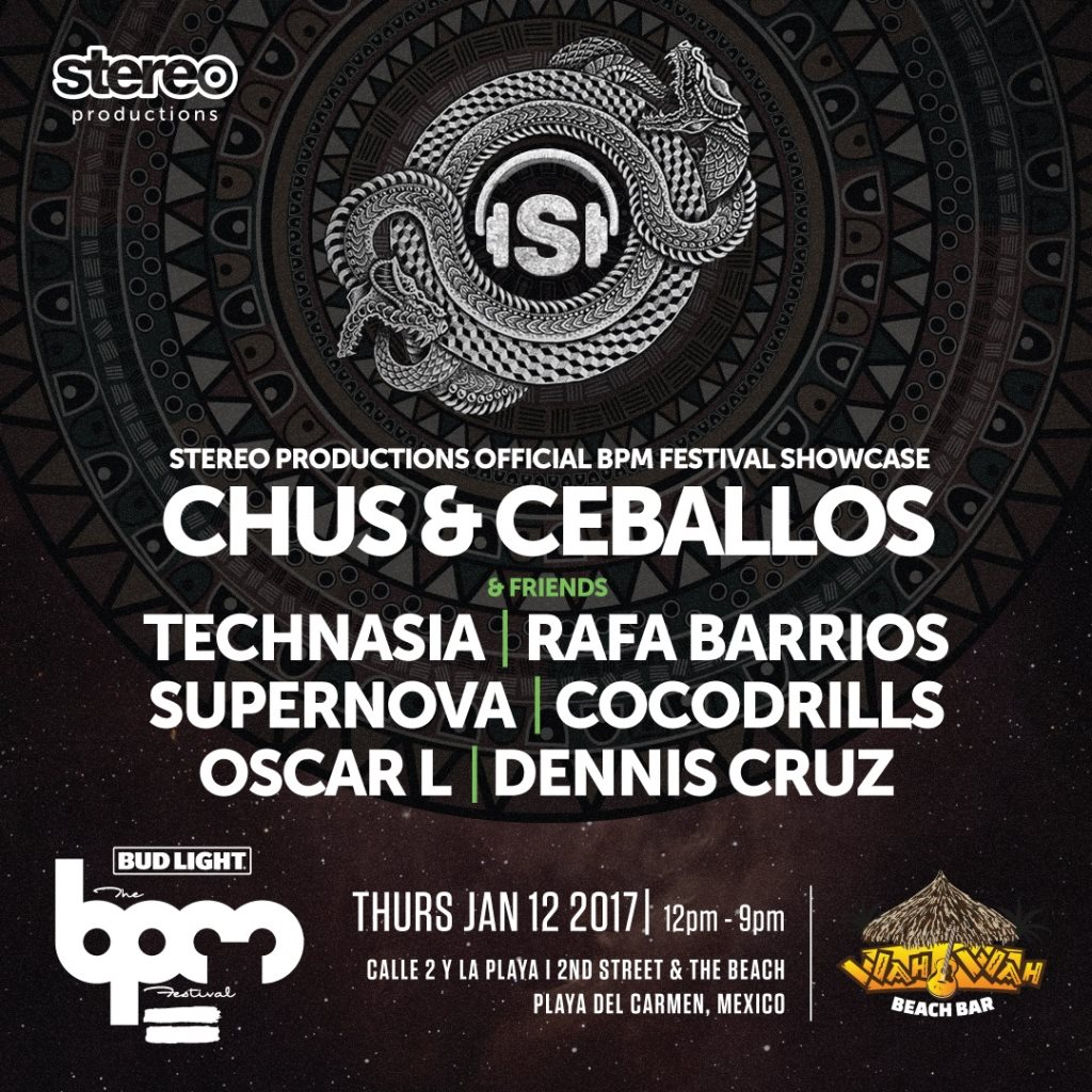 download → Dennis Cruz - live at Stereo Productions, Wah Wah Beach Bar (THE BPM 2017, Mexico) - 12-Jan-2017