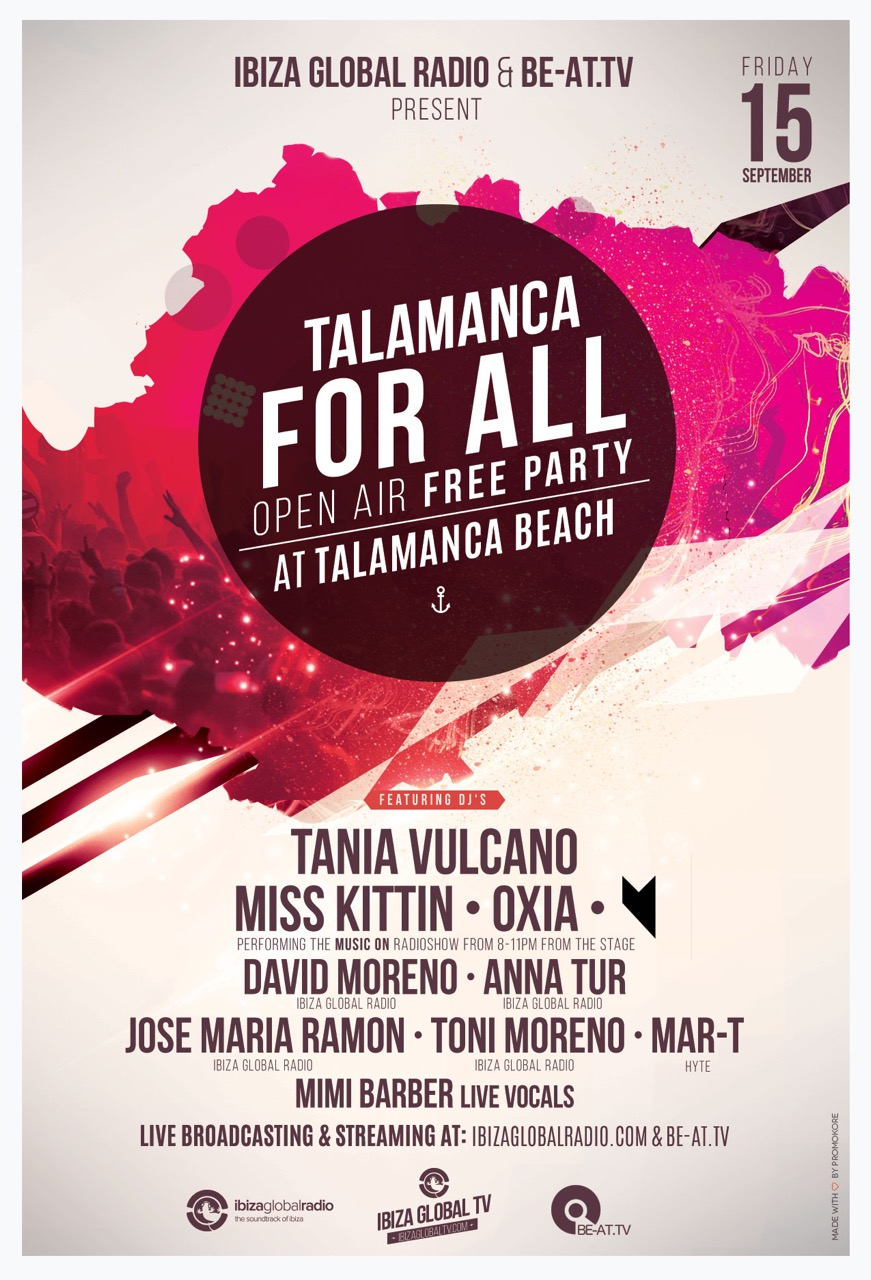 download → David & Toni Moreno, Anna Tur, Jose Maria Ramon - live at Talamanca Beach Open Air Free Party - 15-Sep-2015