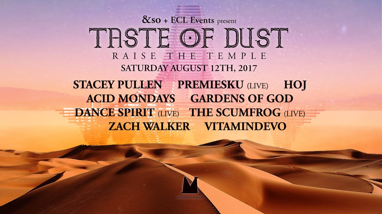 download → Stacey Pullen, Acid Mondays, Hoj, Gardens of God, Dance Spirit, Premiesku - live at Taste Of Dust Raise The Temple (Brooklyn Mirage) - 12-Aug-2017