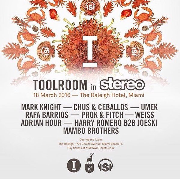 download → Chus and Ceballos, Adrian Hour, Mark Knight, Umek, Weiss, Harry Romero b2b Joeski, Prok & Fitch, etc - live at Toolroom in Stereo, The Raleigh Hotel (WMC 2016, Miami) - 18-Mar-2016