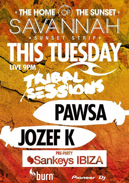 download → PAWSA - live at Tribal Sessions & Solid Grooves (Sankeys Pre-Party), Savannah, Ibiza - 08-Sep-2015