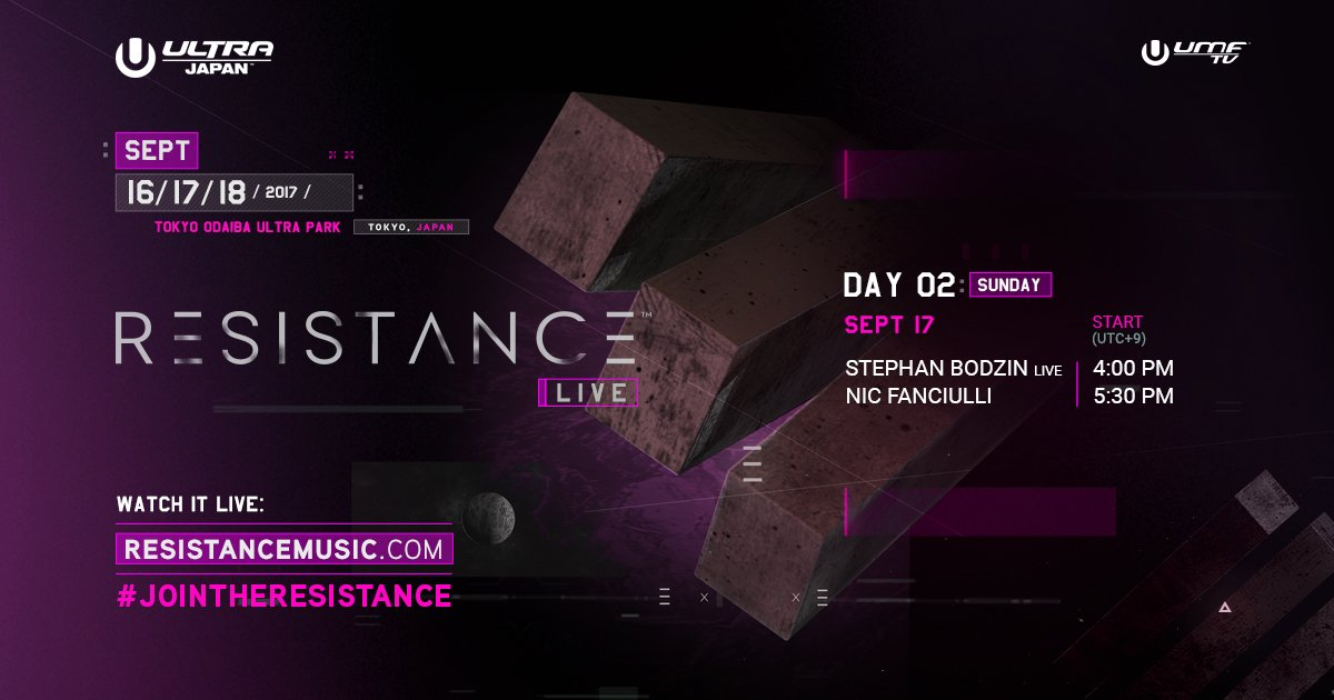download → Nic Fanciulli, Stephan Bodzin - Ultra Music Festival 2017 Japan - Day 2 - Resistance Stage - 1080p HD - 17-Sep-2017