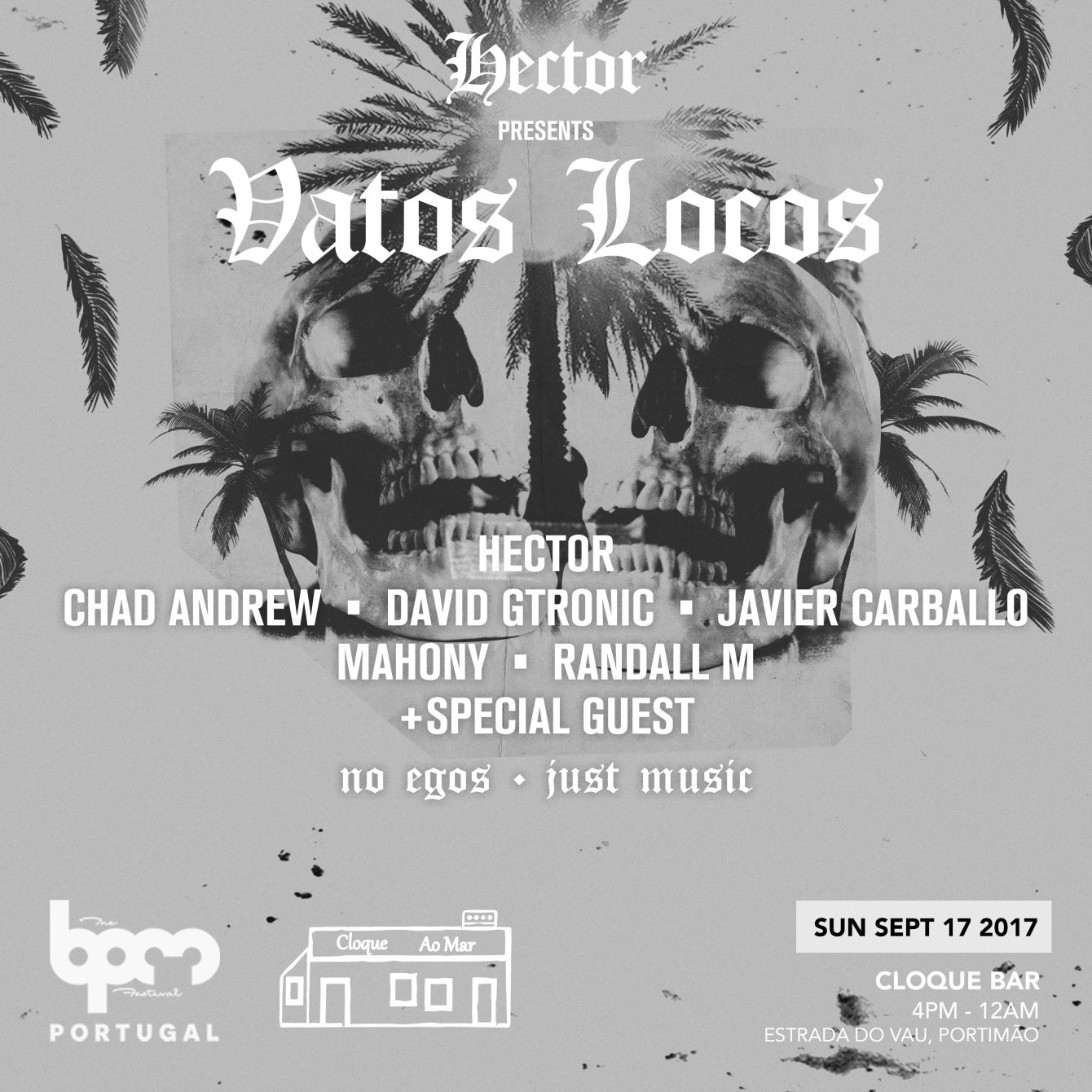 download → Hector, Javier Carballo, Randall M, Mahony, Chad Andrew B2B David Gtronic - live at Vatos Locos (BPM Portugal 2017) - 17-Sep-2017