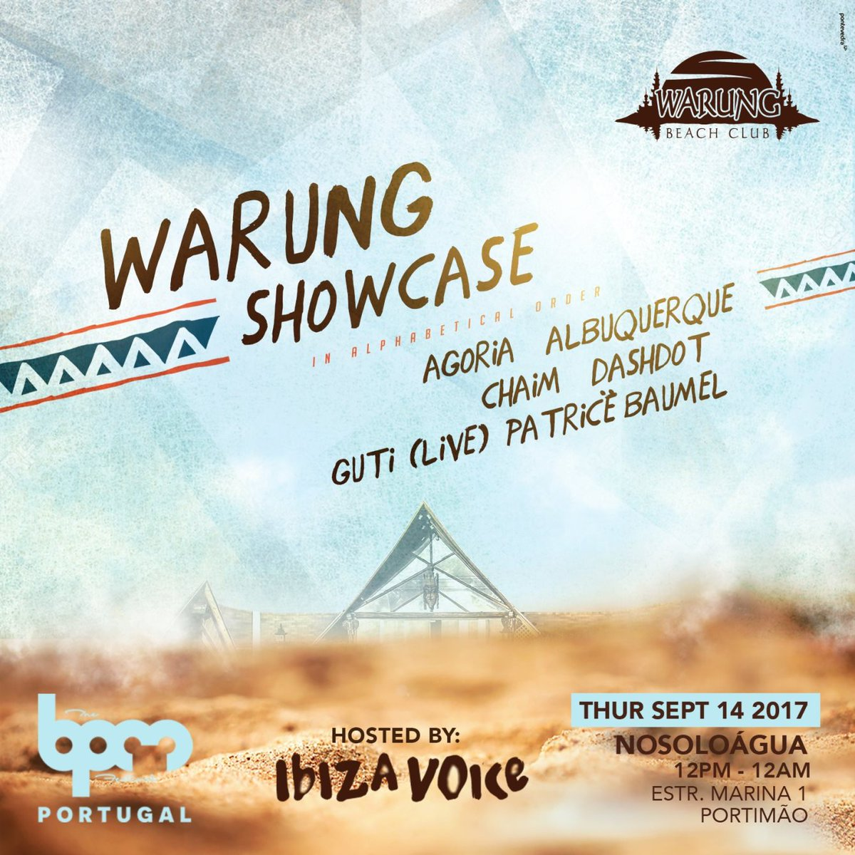 download → Patrice Baumel, Guti, Dashdo, Albuquerque - live at Warung (BPM Portugal 2017) - 14-Sep-2017