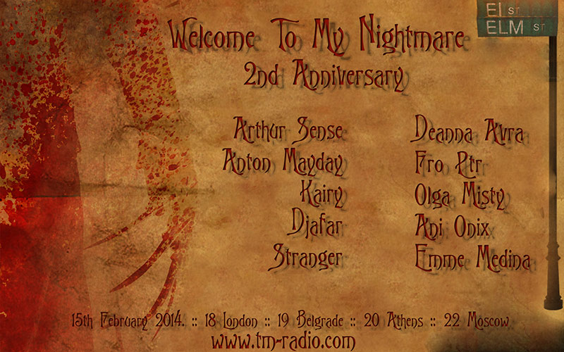 download → DJ KiDe & Guests - Welcome To My Nightmare on TM RADIO (2nd Anniversary) [11 Djs in Total] - February 2014