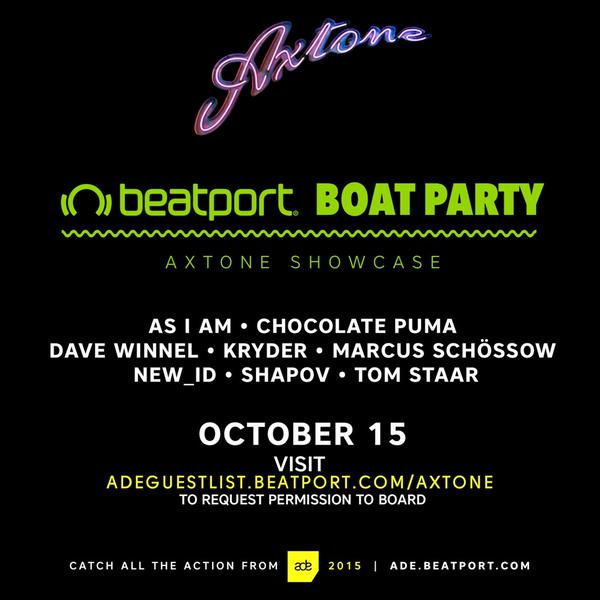 download → Kryder, Tom Staar, Marcus Schossow, Shapov, Chocolate Puma, Dave Winnel, NEW ID, As I Am - live at Axtone Showcase, Bearport Boat, ADE 2015 - 15-Oct-2015