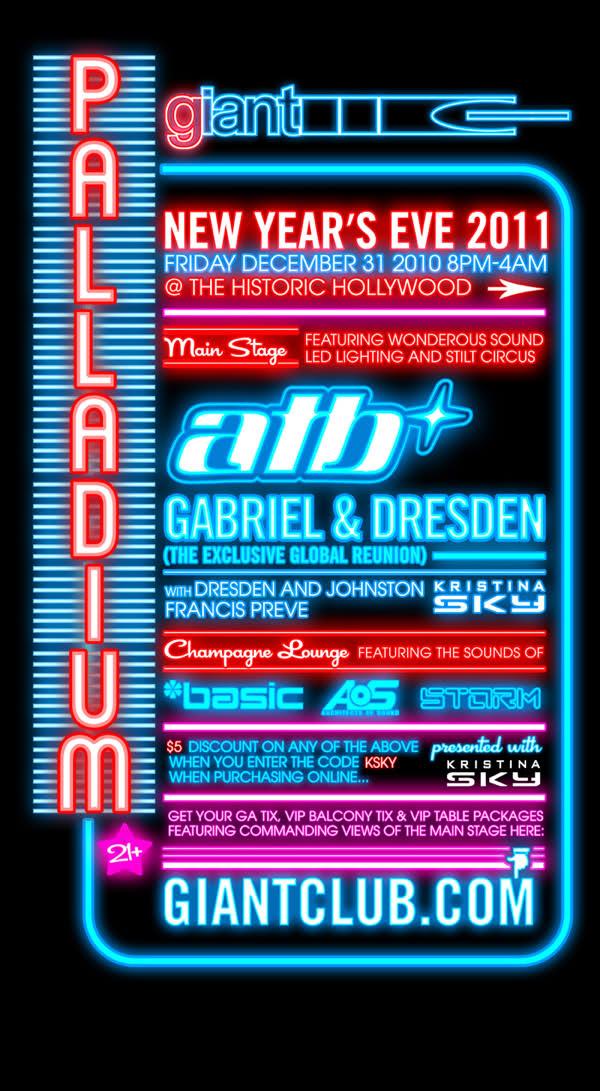 Gabriel & Dresden - Live Palladium - New Years Eve - Don't miss it - ratio free!