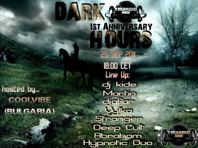 Dark Hours :: 1 YEAR ANNIVERSARY CELEBRATION!!!! (aired on September 25th, 2011) banner logo
