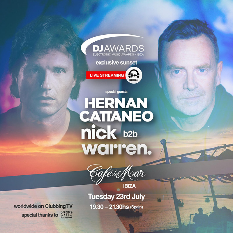Heranan Cattaneo B2B Nick Warren - Live @ Cafe Del Mar Ibiza DJ Awards (Extended set HQ) - 23-Jul-2019