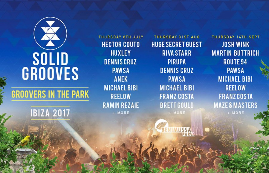 download → Hector Couto, Dennis Cruz, Huxley - Groovers In The Park Opening (Benimussa Park, Ibiza) - 06-Jul-2017