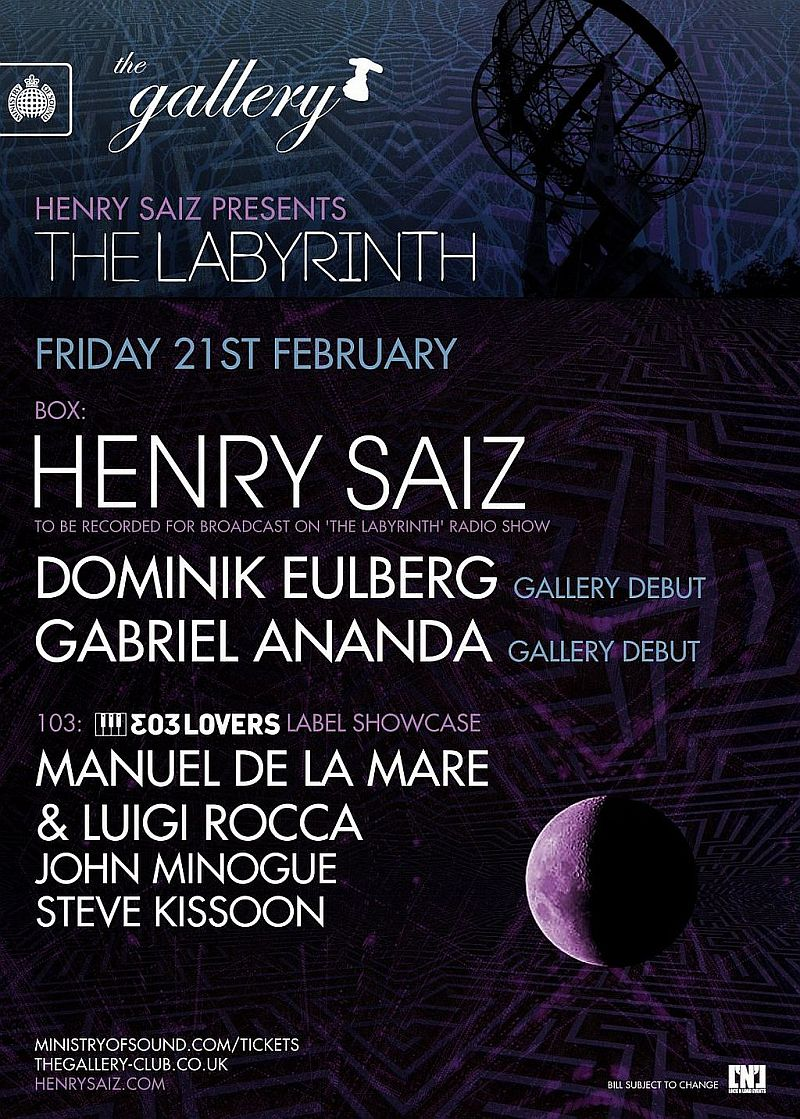 download → Henry Saiz - The Labyrinth 19 - Live @ Ministry of Sound, London - 21-Feb-2014