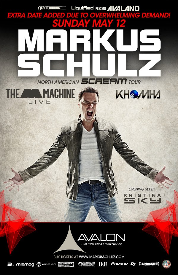 download: Markus Schulz b2b KhoMa - Live at Avalon (Hollywood) - 12-May-2013
