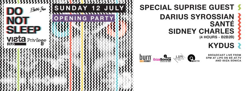 download → Darius Syrossian b2b Sante b2b Sidney Charles - live at Do Not Sleep 2015 Opening Pre-Party, Privilege, Ibiza - 12-Jul-2015