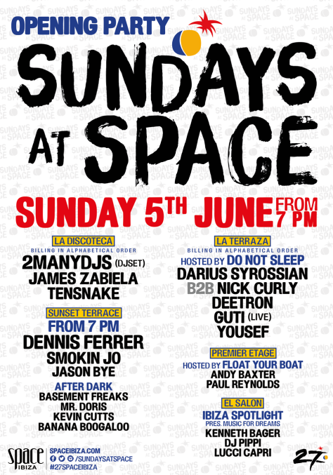 download → Yousef - live at Sundays at Space Opening Party (Space, Ibiza) - 05-Jun-2016