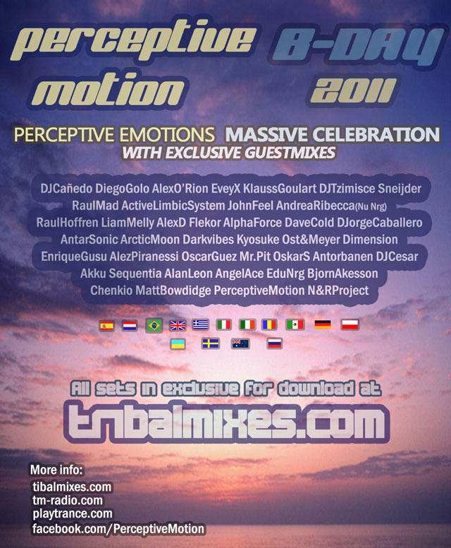 Perceptive Emotions birthday on TM Radio - 41 guests 23hrs Marathon - 01-Nov-2011