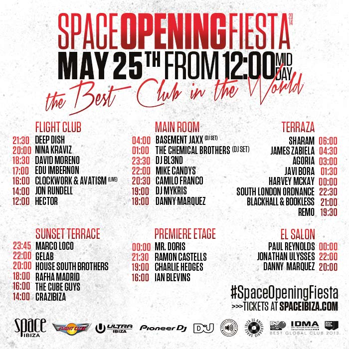 download → livesets and videos from Space Opening Fiesta (Ibiza) 25-May-2014