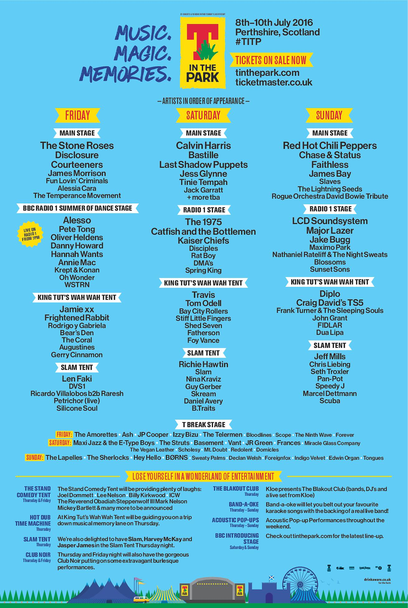 download → Calvin Harris, Faithless, Disclosure, Alesso, Pete Tong, Oliver Heldens, Annie Mac, Hanna Wants, etc - live at T In The Park 2016 (Scotland) - July 2016