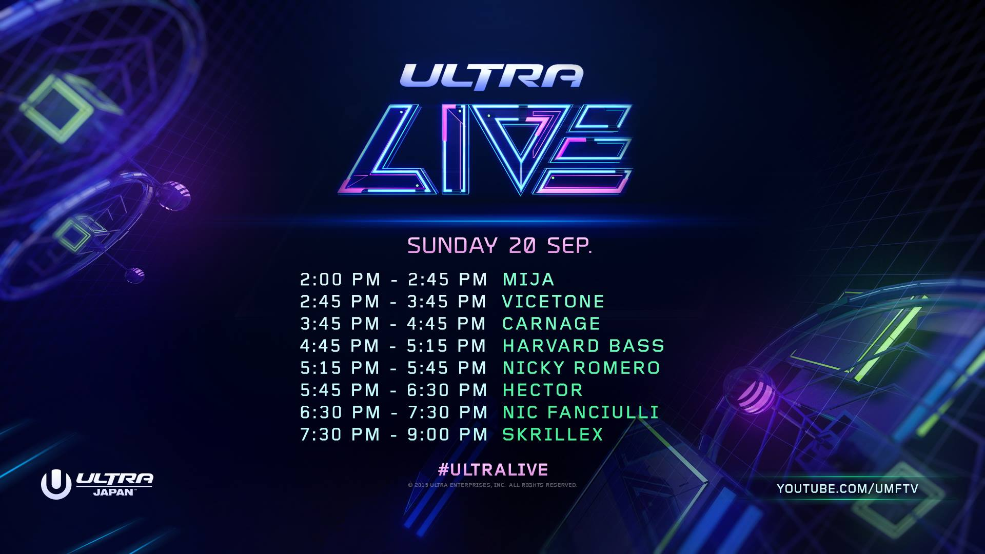 download → Nic Fanciulli, Skrillex, Hector, Harvard Bass, Nicky Romero, Carnage, Vicetone, Mija - Ultra Music Festival 2015, Japan - 1080p HD - 20-Sep-2015