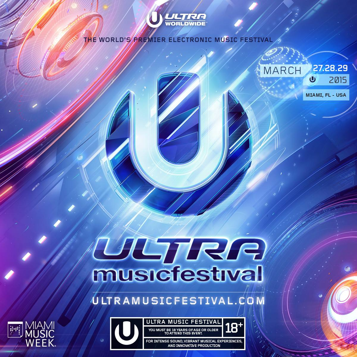 Oliver Heldens - live at Ultra Music Festival, Main stage, WMC 2015 ...