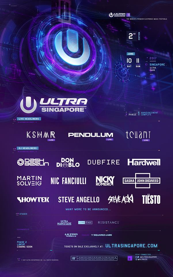 Tiesto - live at Ultra Music Festival 2017 (Singapore) - 10-Jun-2017
