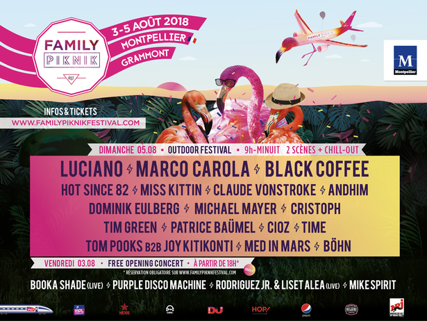 Luciano, Hot Since 82, Miss Kittin, Michael Mayer & more - Live at Family Piknik 2018 (Montpellier) - 04-Aug-2018