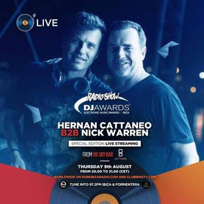 Nick Warren b2b Hernan Cattaneo - DJ Awards Nominee Set, Ocean Drive, Ibiza - 09-Aug-2018