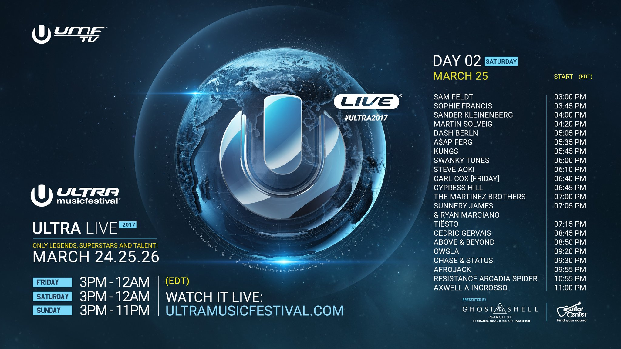Axwell & Ingrosso, Afrojack, Tiesto, Dash Berlin etc - Live at Ultra Music Festival Miami Day2, 1080p Stream - 25-Mar-2017
