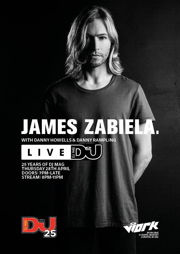 James Zabiela - Live at 25 Years of DJ Mag Party - 28-Apr-2016