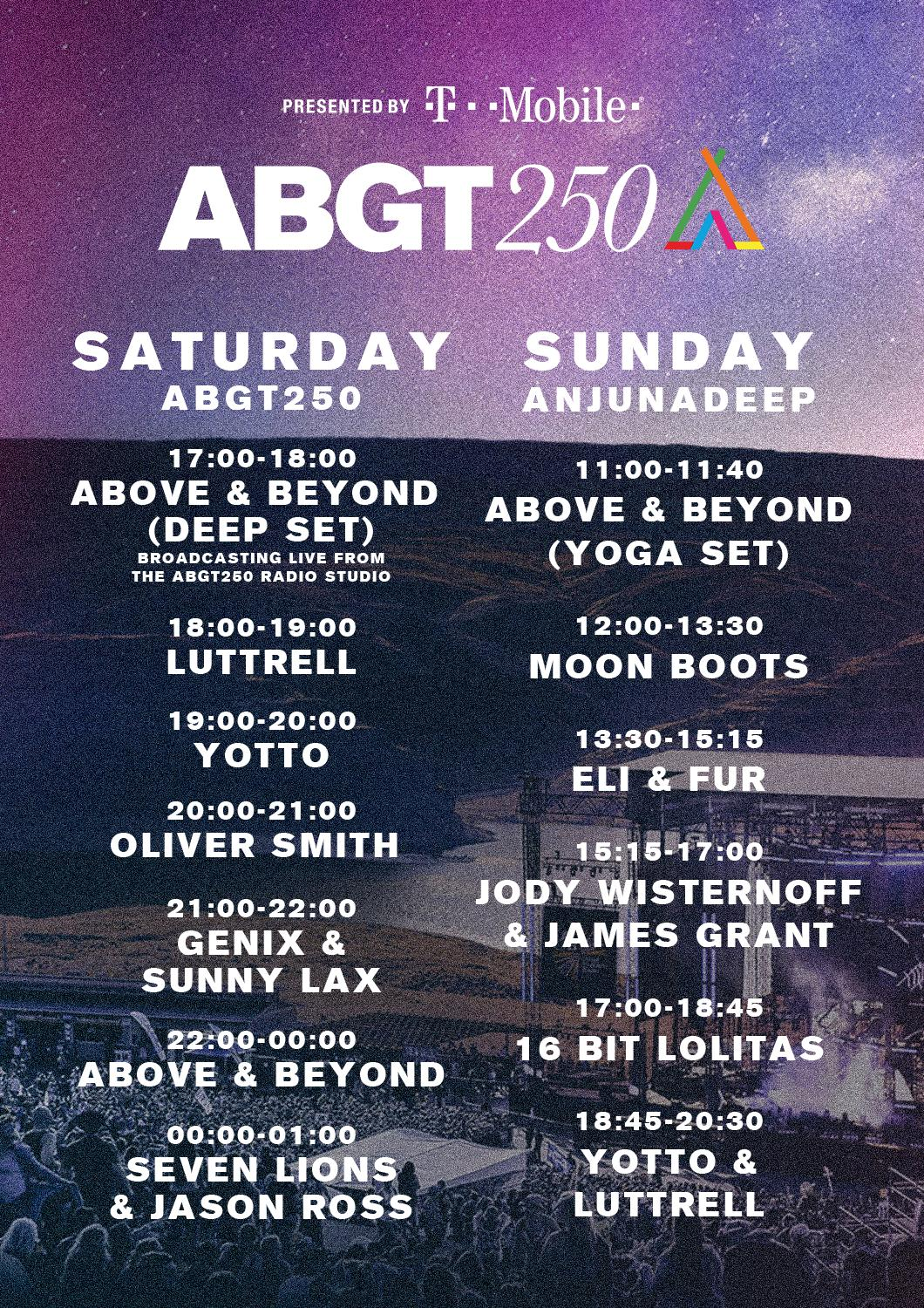 Jody Wisternoff & James Grant - Live at Anjunadeep at The Gorge ABGT250 - 17-Sep-2017